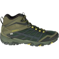 Merrell Men's Moab FST ICE + Thermo 100g Waterproof Hiking Boots, Size: 11.5, Green