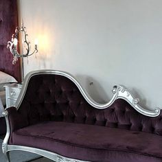 Mulberry Velvet Chaise Lounge [Sofa Louis Other] : Furniture On The Move, Specialist Furniture Hire Harvey Furniture, Unique Furniture, Velvet Chaise Lounge, Lounge Sofa, Gothic House, Boudoir, House Design, Couch, Living Room
