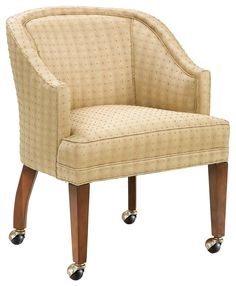 Chairs Caster Wheel Lounge Chair by Fairfield