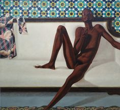 Family Jules: NNN (No Naked Niggahs), artist Barkley L. Hendricks, 1974, Oil on Linen, 72 x 66.