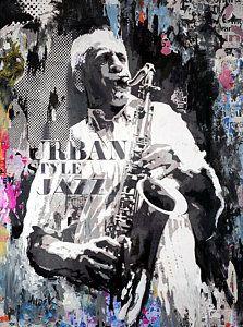 Saxophone Player Painting - Urban Style Jazz by James Hudek Sonny Rollins, Saxophone Players, Urban Style, Urban Fashion, Fine Art America, Jazz, Painting, City Style, Urban Swag