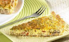 Quiche au thon et curry WW, une délicieuse tarte salée parfumée au curry, facile et simple à réaliser pour un repas léger accompagné d'une bonne salade.