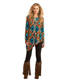 Dance Feathers Top by Double D Ranch