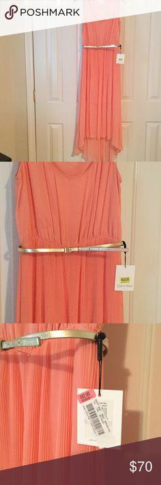 Calvin Klein Dress💕SALE💕 Beautiful Calvin Klein dress NWT in size 6 with gold accent belt. Calvin Klein Dresses
