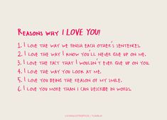 52 Reasons Why I Love You - Love Quotes   1   52 reasons why
