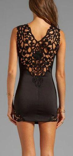 #Lace back dress