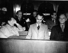 Defendants at the Nuremberg War Crimes Trials.