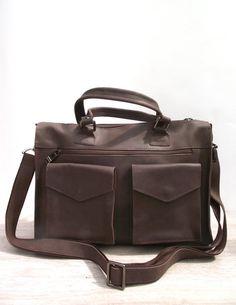 d496cbf170e Mens brown messenger bag. Brown fullgrain by TropaeisLeather Day Left,  Natural Leather, Messenger
