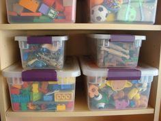organized toy rotation/bin system