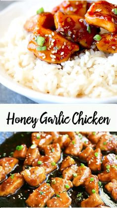 meals This Honey Garlic Chicken recipe is so easy to prepare and will be a family favorite! Made with chicken breasts and a four ingredient honey garlic sauce. Add cut up broccoli, cauliflower, peppers, carrots or peas for honey garlic chicken stir fry. Garlic Chicken Stir Fry, Honey Garlic Sauce, Garlic Chicken Recipes, Chicken Stirfry Recipes, Healthy Chicken Stir Fry, Soy Sauce Chicken, Hoisin Chicken, Chicken Teriyaki Recipe, Honey Sesame Chicken