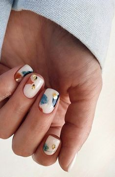Cute Acrylic Nails, Acrylic Nail Designs, Cute Nails, Shellac Designs, Pastel Nail Art, Grey Nail Art, Colorful Nail Art, Floral Nail Art, Nagellack Design