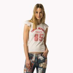 Tommy Hilfiger T-shirt Met Contrasterende Mouw - eggnog/multi (Bruin) - Tommy Hilfiger T-Shirts - detailbeeld 1