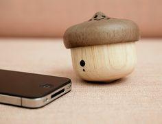 Kikkerland Design Inc » Products » Acorn Speaker + Bluetooth