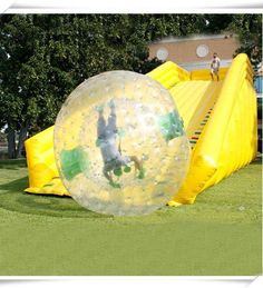 "HUMAN HAMSTER BALLS! Race your friends or play ""bumper"