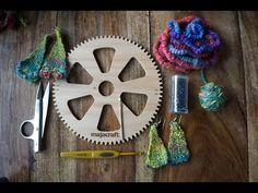 ▶ WoolWench Circular Loom Woven Earrings - YouTube
