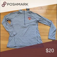Iowa State Long Sleeve Pullover Half zip Under Armour Tops Tees - Long Sleeve