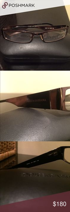 Dolce and Gabbana frame glasses (shiny dark brown) Authentic classy/elegant dolce and gabbana eyeglass frame(see serial number)- lens need to be replaced - perfect condition the actual frame (shiny) Dolce & Gabbana Accessories Glasses