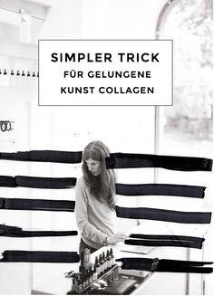 Du bist noch ein Anfänger bei Kunst Collagen? Dann sieh die meinen simplen und effektiven Trick an, wie du ganz einfach ein tolles Ergebnis erzielen kannst. | Hermine on walk | Art Collage | Mode Illustrationen | Fashion Collage