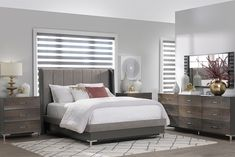 Available in Queen, King & California King. Handcrafted from North American hardwoods, standard in Brown Maple with your choice of finish. Hardwood Furniture, Modern Bedroom Furniture, Living Furniture, American Modern, Queen Beds, California King, Amish, Hair Color, Brown