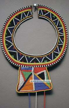 Maasai Traditional Vibrant Colorful Beaded Collar African Necklace Kenya Ethnix Other photo