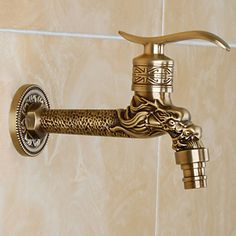Antique Brass Finish Faucet Accessory Contemporary Brass Valve - USD $ 29.99