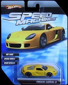 Hot Wheels Speed Machines Porsche Carrera GT YELLOW  Speed Machines