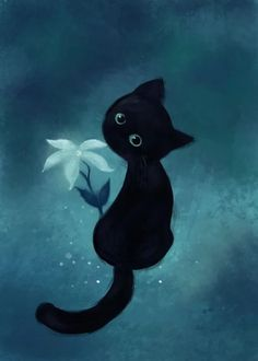 Immagine: 1000+ ideas about Black Cat Art on Pinterest | Cat Art, Cat Art ...