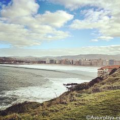 Gijón and ts beaches,  seen from Campa Torres on a winter day #Asturias #Spain
