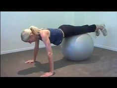 A full body strength workout using a gym ball. PT Mireille Ryan takes you throug. Full Body Strength Workout, Toning Workouts, Ball Workouts, Fit Over 40, Daily Health Tips, Workout For Beginners, Fitness Diet, Workout Videos, Fitness Inspiration