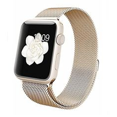 Apple Watch Band,Teslasz® 38mm Mesh Replacement Strap Stainless Steel Milanese Loop Strap Magnetic Buckle Wrist Band for Apple iWatch All Models (Champane Gold 38 MM) Teslasz http://www.amazon.com/dp/B01D0ZALBO/ref=cm_sw_r_pi_dp_mR.6wb0BW0HKT