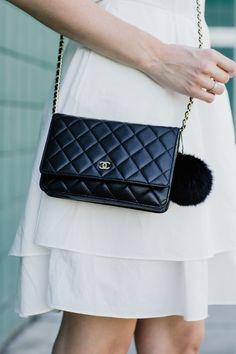 chanel and pom poms