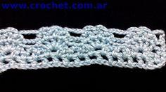 Puntilla N° 18 en tejido crochet tutorial paso a paso.