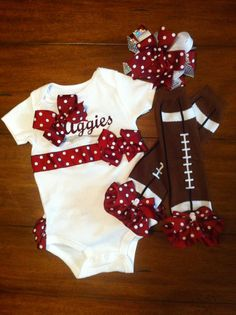 @nikki striefler striefler Kibe  Aggie Baby Football on Etsy, $59.95