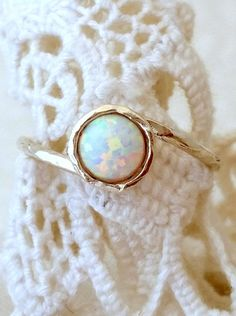 Hey, I found this really awesome Etsy listing at https://www.etsy.com/listing/225175609/opal-ring-white-opal-ring-silver-opal