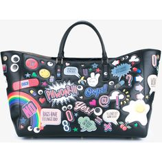 Anya Hindmarch Leather Sticker Ebury Tote (€2.030) ❤ liked on Polyvore featuring bags, handbags, tote bags, anya hindmarch tote, anya hindmarch purse, anya hindmarch tote bag, anya hindmarch handbags and anya hindmarch