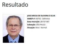Folha Política: Presidente da OAB-DF nega carteira a Joaquim Barbosa, mas registro do mensaleiro Dirceu é mantido