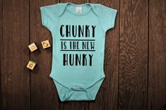 Chunky is the new Hunky Bodysuit Baby One-piece Diaper Shirt Snap Suit Romper Baby Bodysuit Baby Boy Clothing Boy Vinyl Shirt - Baby Boy Shoes - Ideas of Baby Boy Shoes - Baby Boys, Baby Boy Shirts, Cute Baby Onesies, Baby Gap, Baby Outfits, Funny Babies, Cute Babies, Vinyl Shirts, Cute Baby Clothes