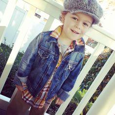 Toddler Style, Toddler Fashion, Plaid, Denim, Toddler Hats