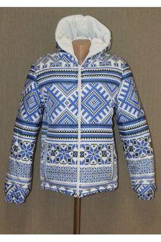 "Куртка ""Блакитна вишиванка"" з капюшоном Men Sweater, Hoodies, Sweaters, Fashion, Moda, Sweatshirts, Fashion Styles, Men's Knits, Parka"