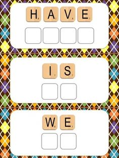 Silly Scrabble Sight Words! 3 activities included in the pack.