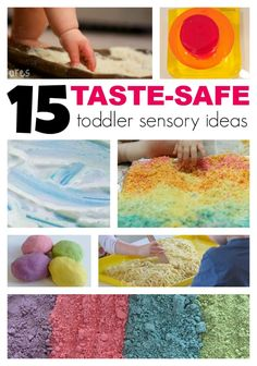 15 Taste Safe Toddler Sensory Ideas - guest post by Lalymom on Lemon Lime Adventures! wow these look fun!