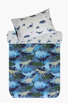 Polycotton Camo Dinosaur Duvet Cover Set - Shop New In - Kids & Ba