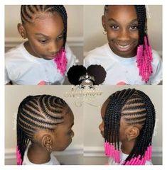 Little Black Girls Braids, Little Girl Braid Styles, Kid Braid Styles, Black Girl Braids, Braids For Black Hair, Hair Styles, Black Kids Braids Hairstyles, Toddler Braided Hairstyles, Toddler Braids