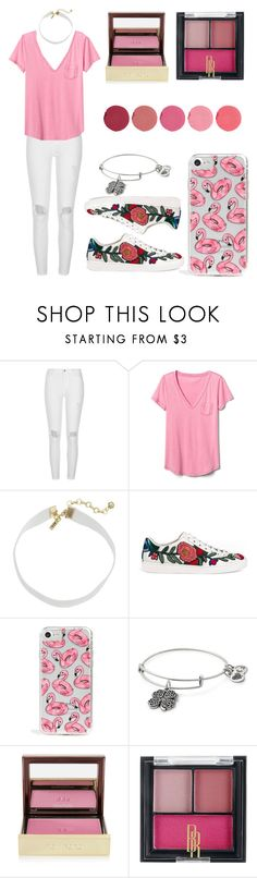 """""""Untitled #562"""" by syshrn ❤ liked on Polyvore featuring River Island, Gap, Vanessa Mooney, Gucci, Skinnydip, Alex and Ani, Tom Ford, Black Radiance and Kjaer Weis"""