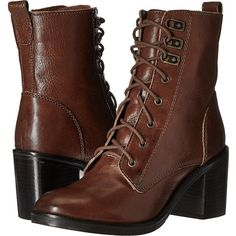 Kenneth Cole Reaction Jenis Jay (Tan Leather) Women's Boots (3,880 PHP) ❤ liked on Polyvore featuring shoes, boots, tan, lace up platform boots, military boots, leather combat boots, faux leather boots and lace up boots