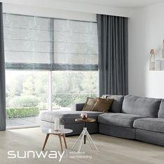 SUNWAY® meets Kendix, dat is het concept waarop de nieuwe SUNWAY® vouwgordijncollectie op gebaseerd is. Prachtig is de combinatie van een SUNWAY® vouwgordijn met een bijpassend, of juist contrasterend gordijn uit de Kendix gordijncollectie.