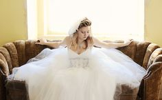 Bride Vintage Crystal Wings Couch