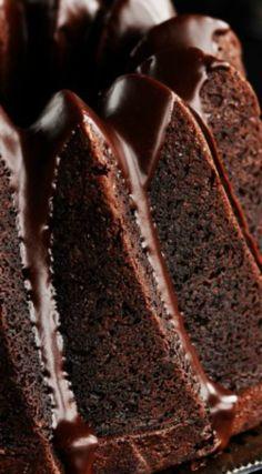 Chocolate Espresso Bundt Cake with Dark Chocolate Cinnamon Glaze ~ The cake…