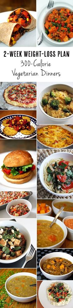 2-Week Weight-Loss Plan: Vegetarian Dinners Under 300 Calories...I need meat but this would be healthy
