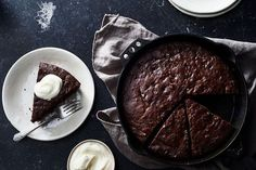 Dark Chocolate Olive Oil Skillet Banana Bread with Sour Cream/Yogurt & Pecans/Walnuts recipe on Food52